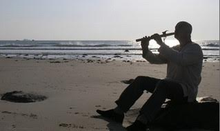 Tim Wheater playing flute