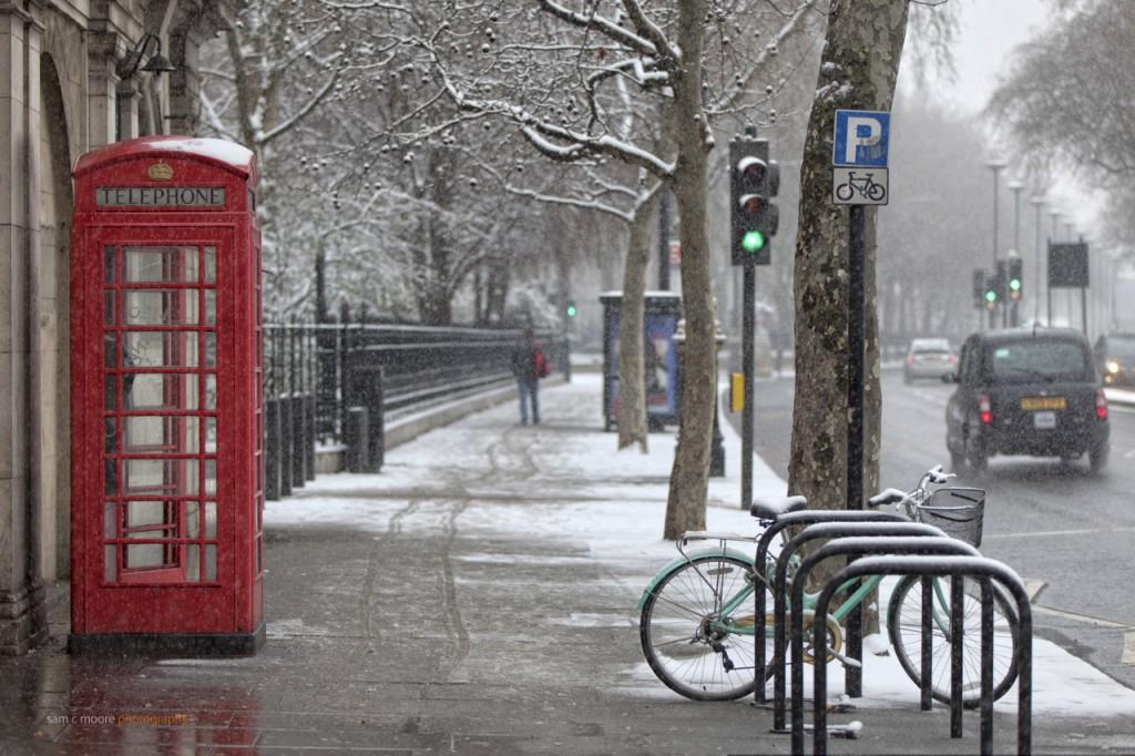 Snow in the Street London
